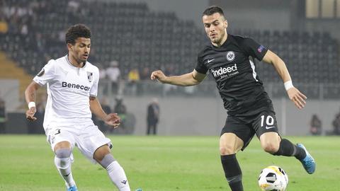 Filip Kostic von Eintracht Frankfurt im Spiel gegen Vitoria Guimaraes