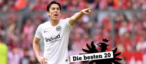 Eintracht-Profi Makoto Hasebe gestikuliert