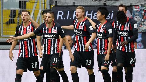 Profis von Eintracht Frankfurt gegen Hoffenheim