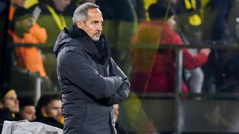 Eintracht-Trainer Adi Hütter war nach der 0:4-Niederlage sauer.