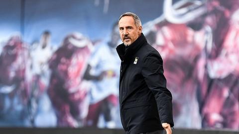 Eintracht-Trainer Adi Hütter konnte mit dem Punkt in Leipzig leben.