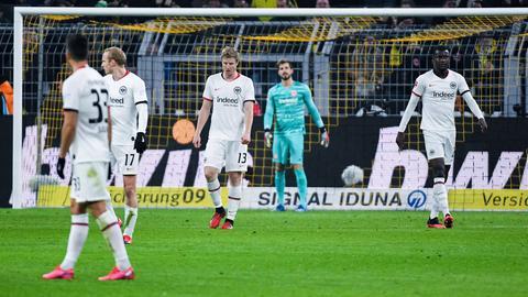 Eintracht Frankfurt in Dortmund