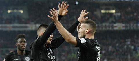 Eintracht-Jubel in der Bundesliga