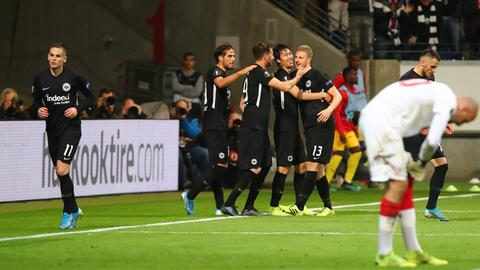 Jubel von Eintracht Frankfurt gegen Standard Lüttich