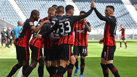 Die Eintracht-Profis hatten diese Saison oftmals Grund zur Freude.