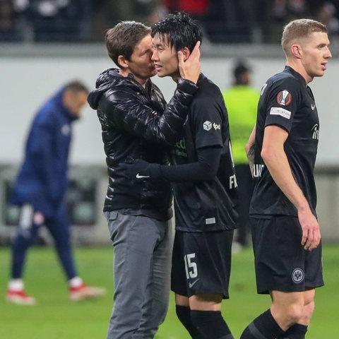 Eintracht-Trainer Oliver Glasner findet lobende Worte für Spielmacher Daichi Kamada.