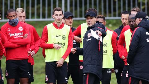 Kovac und sein Team beim Training