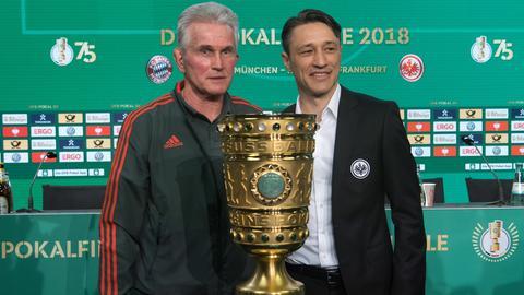 Eintracht-Trainer Kovac und Bayern-Trainer Heynckes