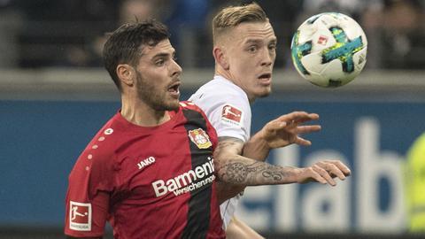 Spielszene aus der Partie Eintracht gegen Leverkusen