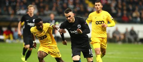 Filip Kostic im Spiel der Eintracht gegen Lüttich