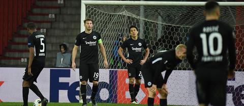 Frust bei Eintracht Frankfurt nach der Niederlage in Lüttich