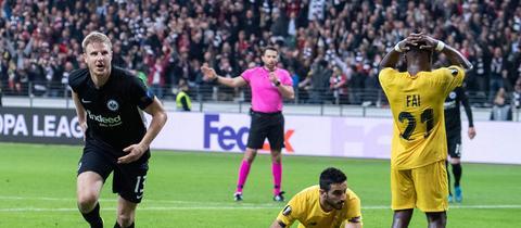 Martin Hinteregger von Eintracht Frankfurt im Hinspiel gegen Lüttich
