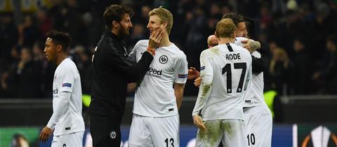 Eintracht Frankfurt will auch im Viertelfinale jubeln