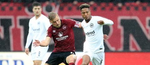 Im Hinspiel konnte Nürnberg die Eintracht ärgern