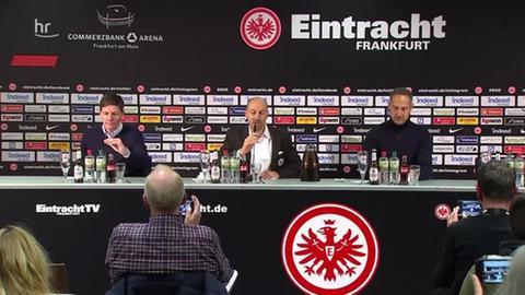 Die Trainer bei der Pressekonferenz