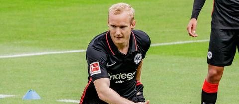 Eintracht-Mittelfeldspieler Sebastian Rode verpasste das Training am Freitag.