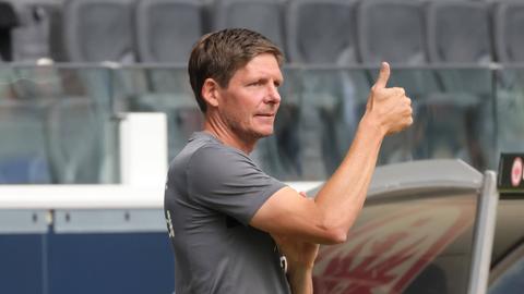 Eintracht-Trainer Oliver Glasner war zufrieden.