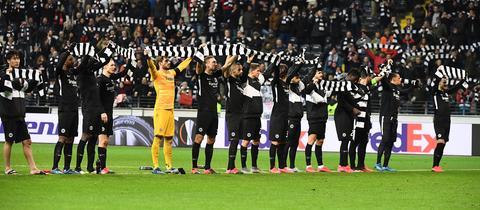 Eintracht Frankfurt Jubel Salzburg
