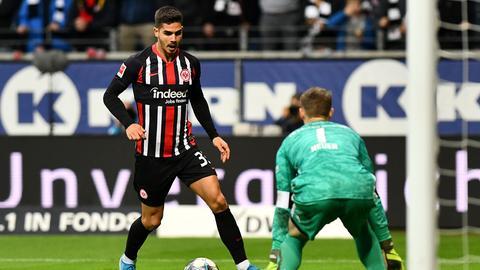 André Silva von Eintracht Frankfurt im Spiel gegen Bayern