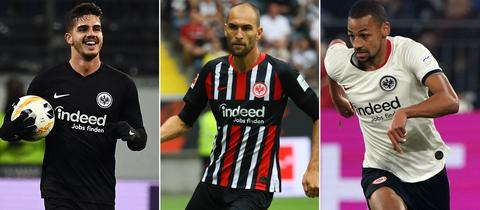 Collage André Silva, Bas Dost und Djibril Sow