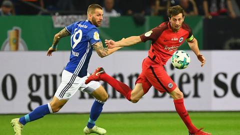 Szene aus dem Spiel Eintracht gegen Schalke