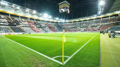 Das Eintracht-Stadion vor dem Spiel gegen Limassol