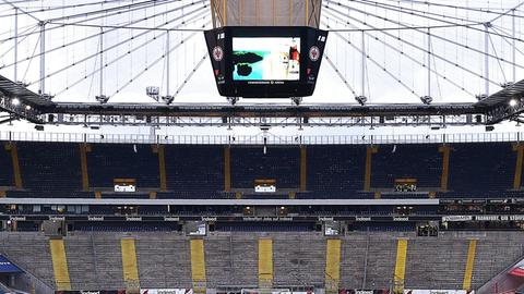 Die Tribünen werden leer bleiben beim Duell der Eintracht gegen Basel.