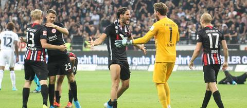Eintracht Frankfurt gegen RC Straßburg