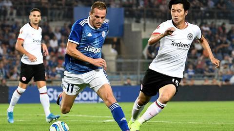 Daichi Kamada im Spiel zwischen Eintracht Frankfurt und Straßburg