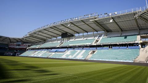 Das Stadion in Tallinn