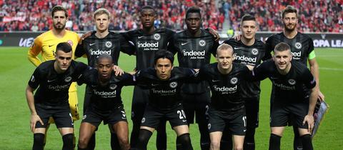 Das Team von Eintracht Frankfurt