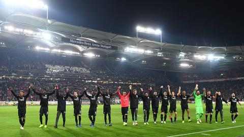 Eintracht Frankfurt jubelt in Stuttgart