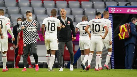 Die Spieler von Eintracht Frankfurt kassierten in München die fünfte Niederlage in Serie.