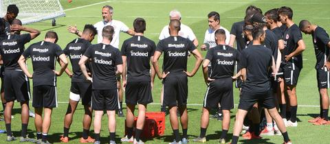 Eintracht Frankfurt beim Training