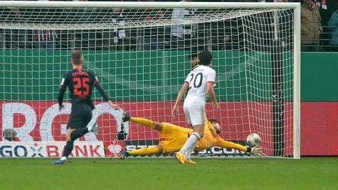 Szene aus der Partie Eintracht gegen Leipzig