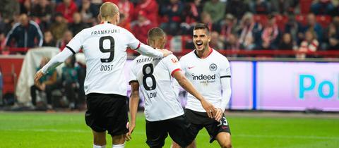 Jubel von Eintracht Frankfurt bei Union Berlin