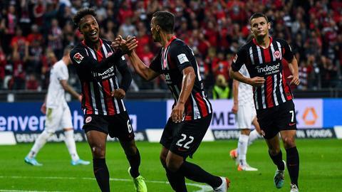 Jubel von Eintracht Frankfurt gegen den FC Vaduz