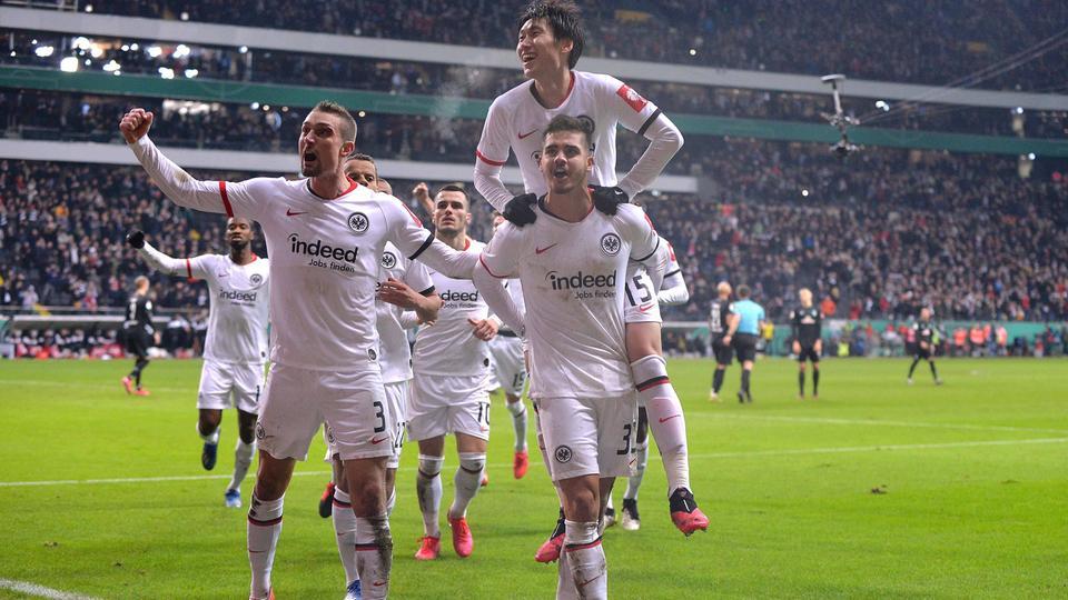 Eintracht Frankfurt Werder Bremen Jubel Andre Silva