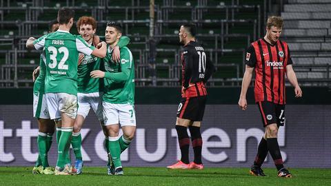 Diesmal durfte der Gegner jubeln: Bremen gewinnt gegen die Eintracht.