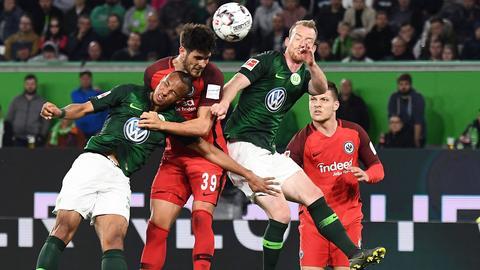 Eintracht Frankfurt im Spiel in Wolfsburg