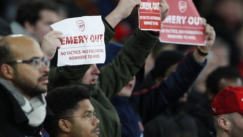 Arsenal-Fans haben die Schnauze voll vom Fußball unter Unai Emery.