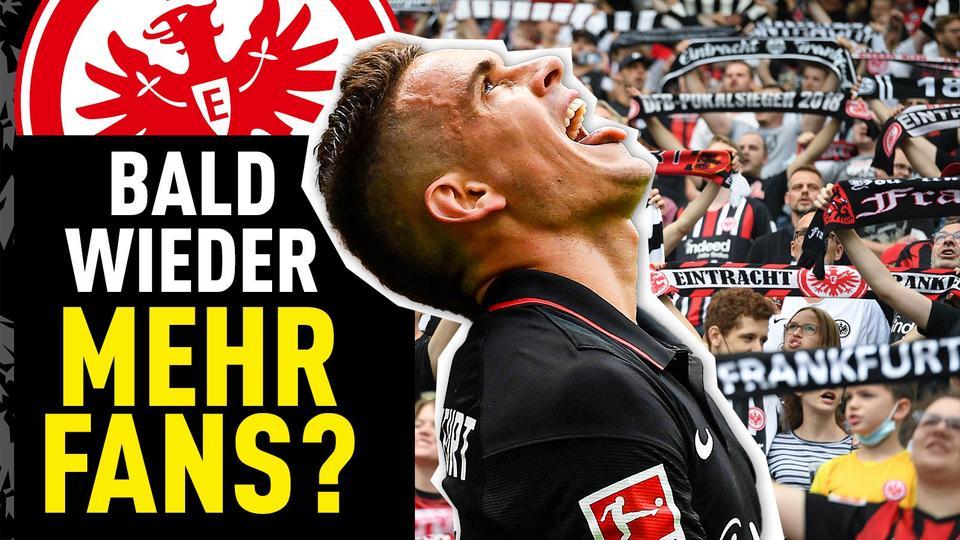 Eine Collage zur Zuschauerrückkehr bei Eintracht Frankfurt