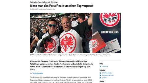 Screenshot des hessenschau.de-Berichts