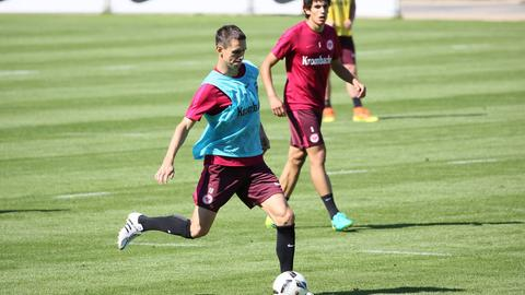 Johannes Flum im Training