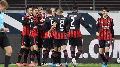 Frankfurter Jubel gegen Augsburg