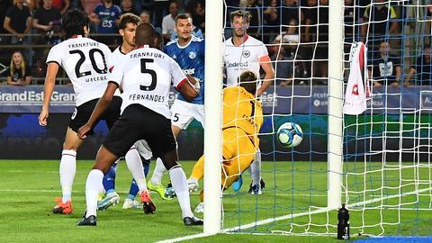 Das 1:0 im Spiel zwischen Eintracht Frankfurt und Straßburg