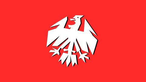 FUSSBALL 2000 Weißer Adler auf rotem Grund