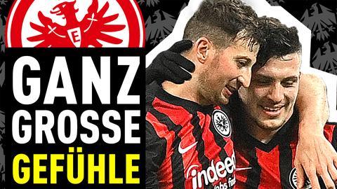 David Abraham und Luka Jovic standen bei der Eintracht im Mittelpunkt.