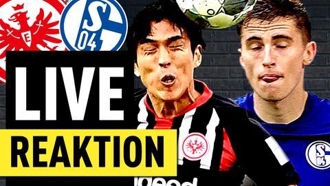 Szene aus der Partie Schalke gegen Frankfurt