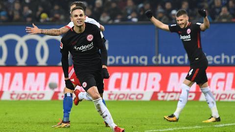 Mijat Gacinovic bejubelte seinen Treffer zum 2:1.
